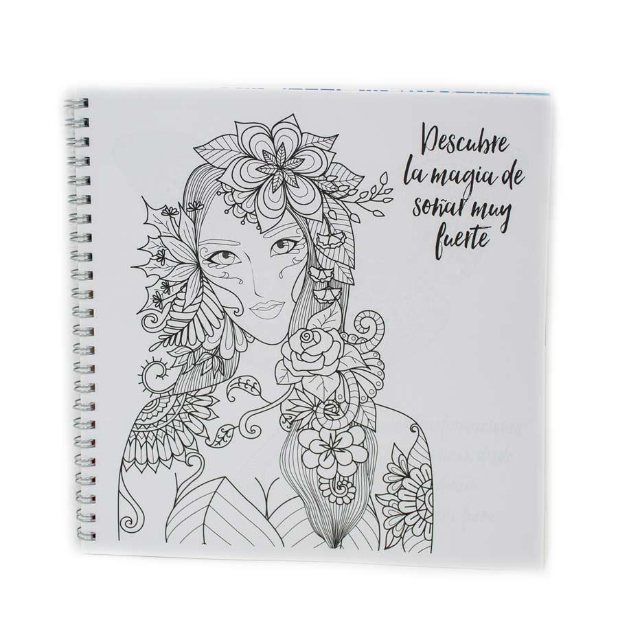 Cuaderno De Dibujos De Mandalas Para Colorear Acciónate