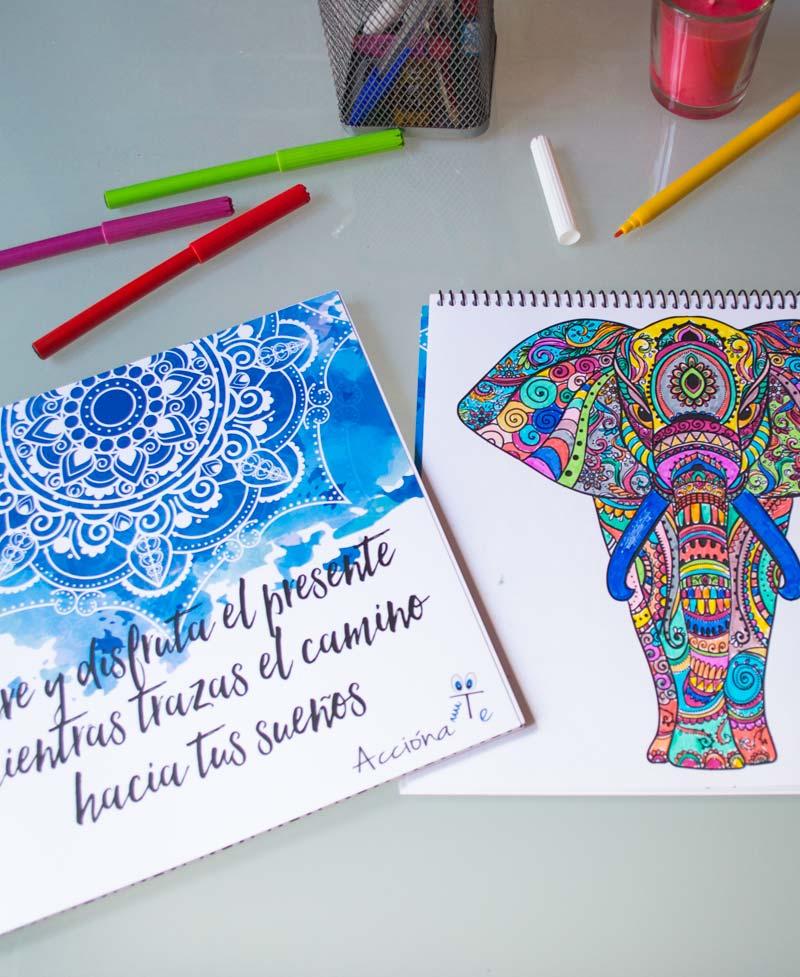 Cuaderno de dibujos de Mandalas para colorear | AcciónaTe